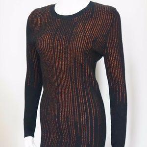 Alexander McQueen Dresses - ALEXANDER McQUEEN Black Orange Stretch Dress